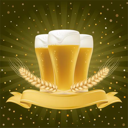 cerveza: elemento de dise�o para cerveza  Vectores