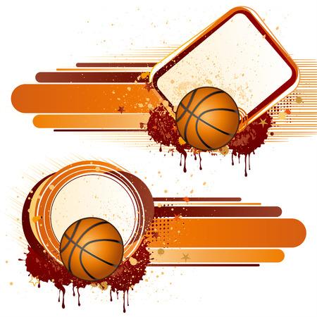 deporte de baloncesto, elementos de diseño  Vectores