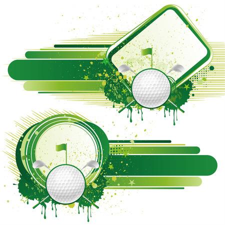 circular silhouette: golf sport,  design elements