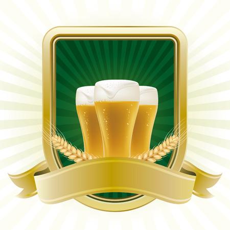 beer bar: beer design element,abstract backgrounds Illustration