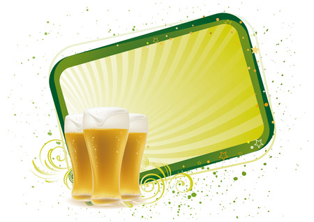beer design element,abstract backgrounds Vector