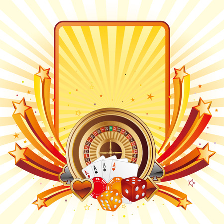 roulette game: casino design elements,abstract background