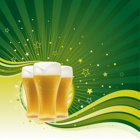 beers: beer design element,abstract backgrounds Illustration