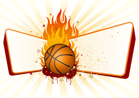 flame,basketball design element Vector