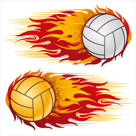 flame,volleyball design element Vector