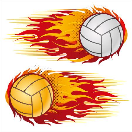 pelota de voleibol: llama, elemento de dise�o de voleibol