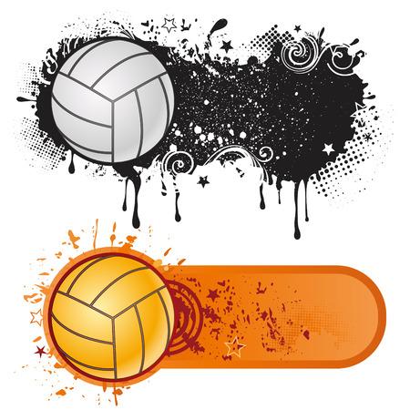 volleyball sport design element Ilustração