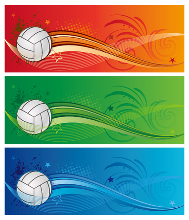 sports backgrounds: design element for volleyball sport