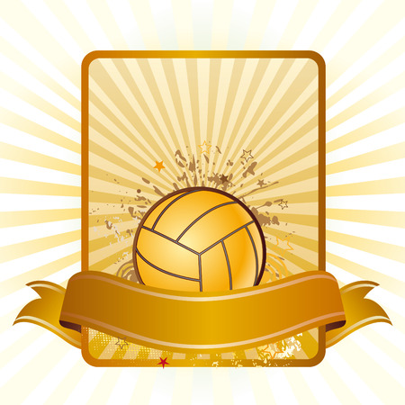 design element for volleyball sport Vector