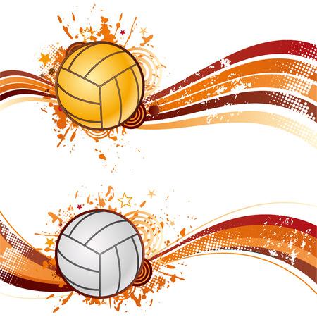 pelota de voleibol: elemento de dise�o de deporte de voleibol  Vectores