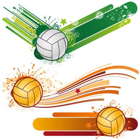 voleibol: elemento de dise�o de deporte de voleibol  Vectores