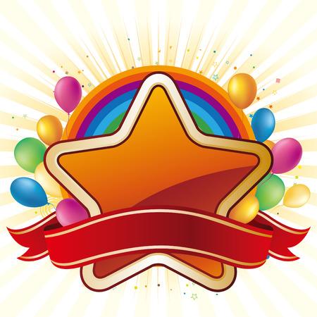 star,balloon,celebration background Stock Vector - 7580417