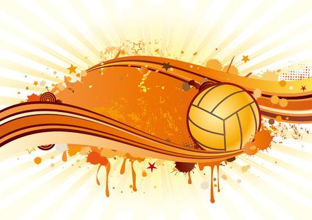 curve ball: volleyball sport design element Illustration