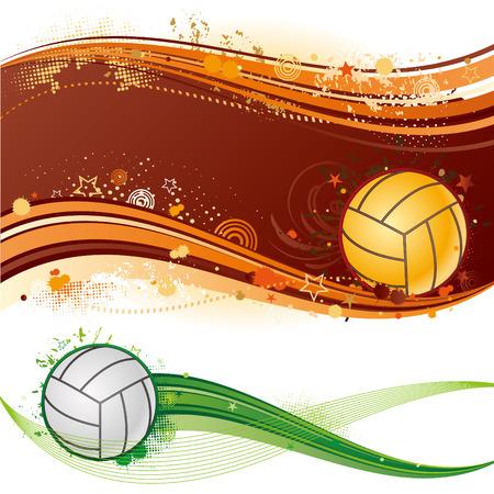 voleibol: elemento de dise�o de deporte de voleibol, fondo abstracto