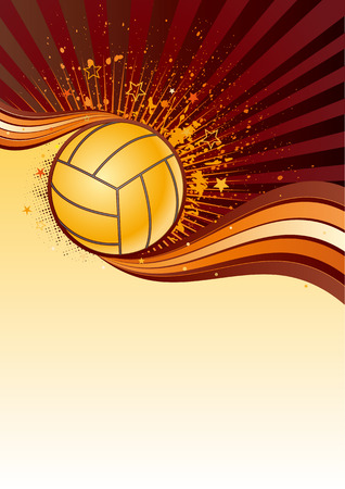 volleyball sport design element,abstract background Vector
