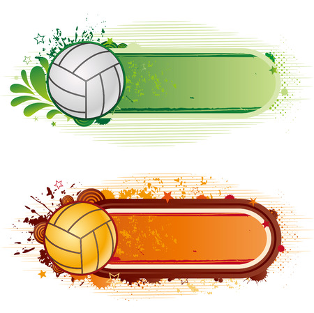 volleyball sport design element Stock Vector - 7580420