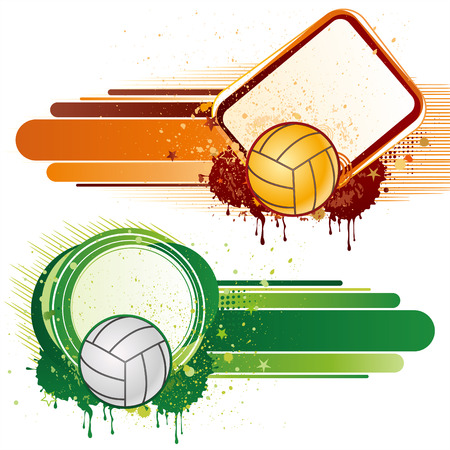 balon de voley: elemento de diseño de deporte de voleibol  Vectores