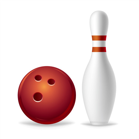 bowling: bowling on a white background
