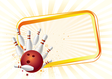 bowling: design element for bowling sport