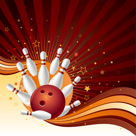 bowling strike: illustration of a bowling strike