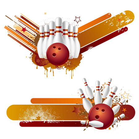 bowling:  illustration of bowling strike Illustration