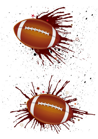 america football and ink Vector