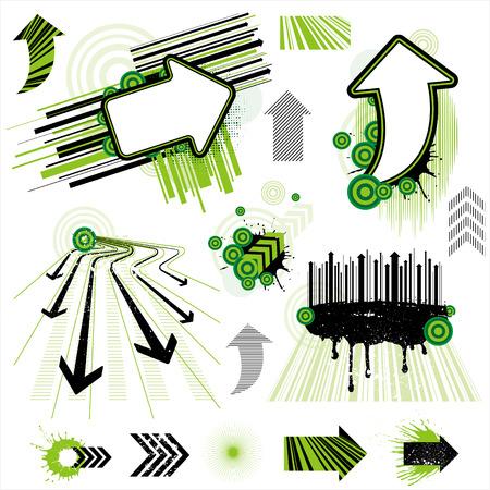 line up: vector arrow design element set