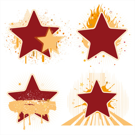 star and flame: stars and ink design element Illustration