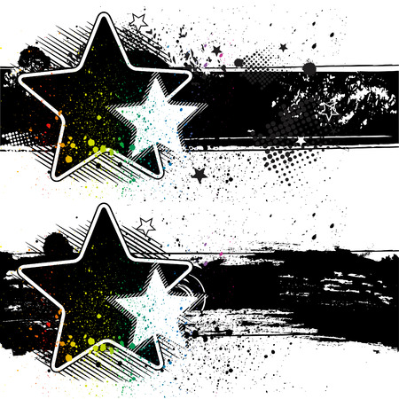 star  grunge banners Stock Vector - 7612796
