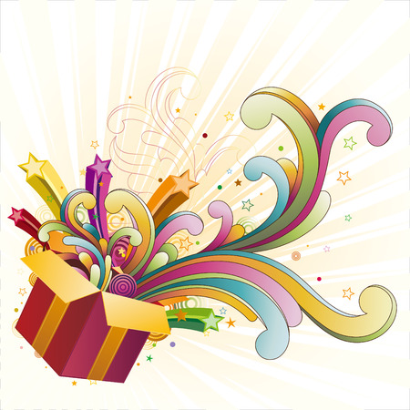 gift box,celebration design element Stock Vector - 7612815