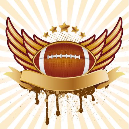 grunge wings:  football americano e ala