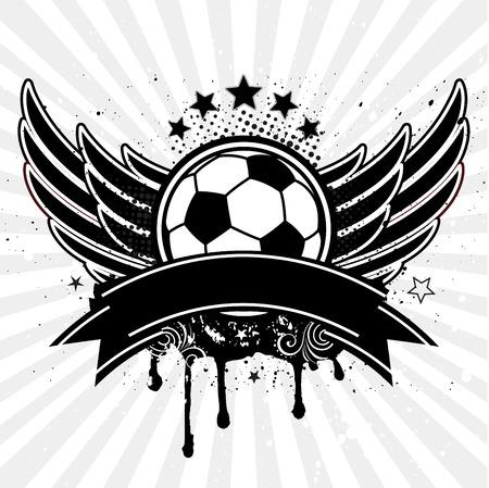 grunge wings: pallone da calcio e ala