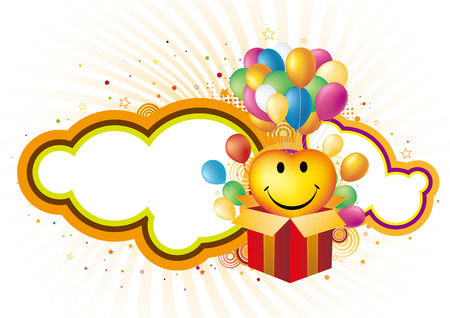 gift box and balloon,  celebration background Stock Vector - 7612794