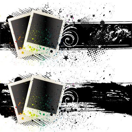 inchiostro e vuoto photof rames Vettoriali