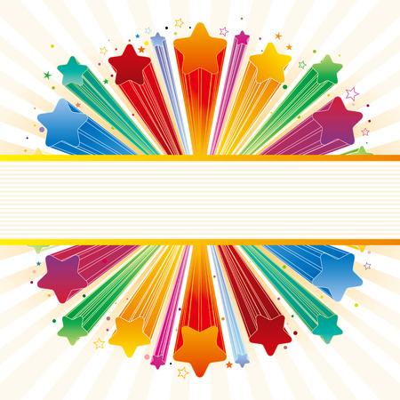 gouden ster:   illustratie van de explosie ster