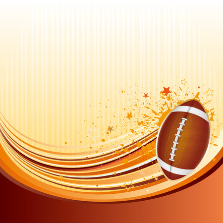 grunge football:  background of american football Illustration