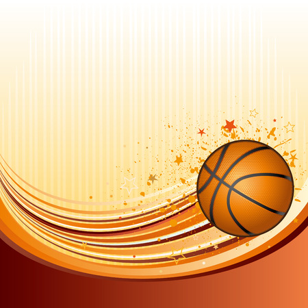 background of basketball sport Stock Vector - 7696782