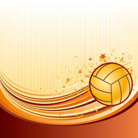 Fondo del deporte de voleibol