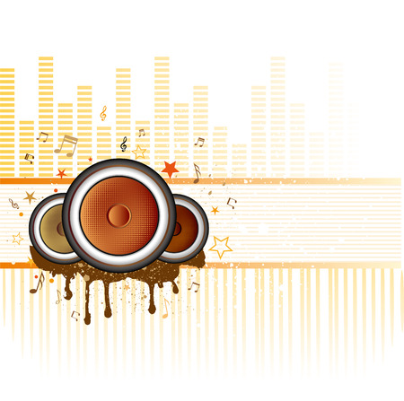 illustration of musical theme with loudspeakers Stock Vector - 7696810