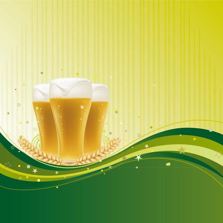 beer design element with wave Stock Vector - 7696814