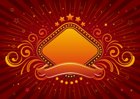 background of neon sign border Stock Vector - 7725487