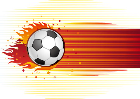 background of soccer Stock Vector - 7725486