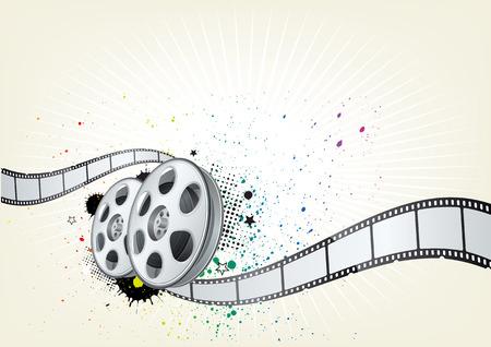 video film:   background for movie theme Illustration