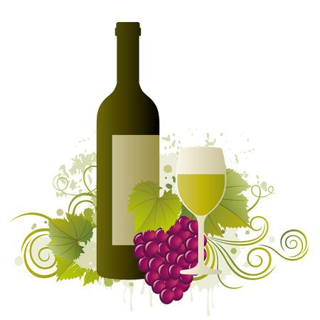 wine themed design element