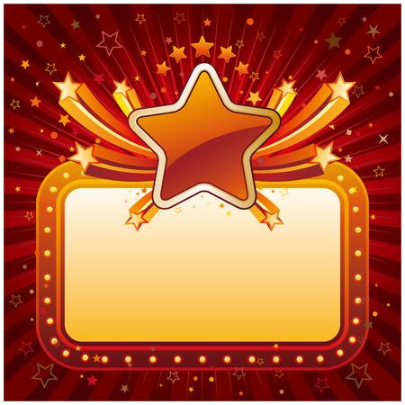 movie sign: illustration of star banner