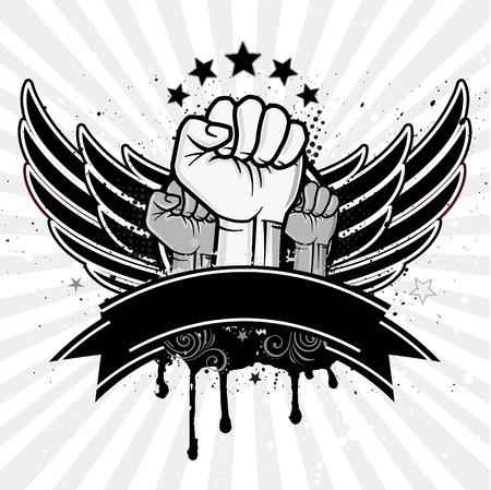 grunge wings: pugno stretto e ala
