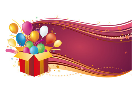 gift box and balloon,celebration background Stock Vector - 7827120