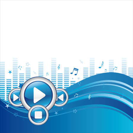 illustration of music abstract background Vector
