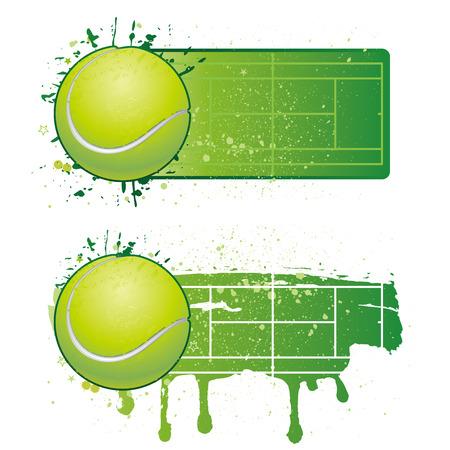 tennis ball: tennis sport design elements Illustration