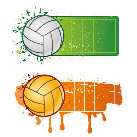 voleibol: elementos de dise�o de deporte de voleibol  Vectores
